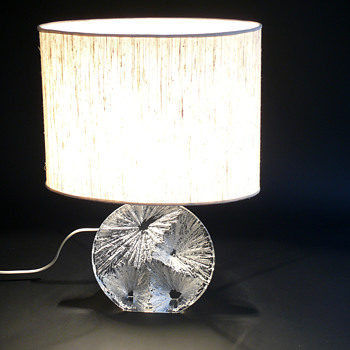 1970s daum nancy table lamp - Art Glass