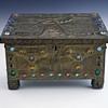 "Circa 1904-10 Alfred Daguet ""Eagle"" Copper/Brass/Jeweled Cabochon Box"