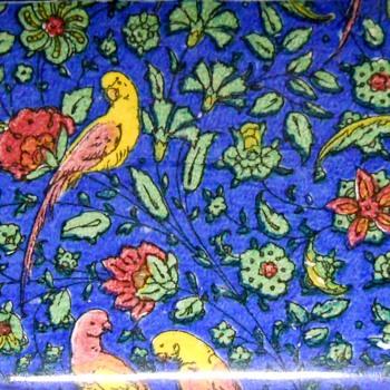 ROYAL DOULTON BIRDS BLUE CHINTZ PERSIAN PARROTS, C1928-31 - China and Dinnerware