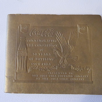 1957 Coca Cola Bottling 50th Anniversary Booklet - Coca-Cola