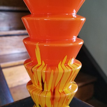 Art deco Kralik Czech glass vase? - Art Glass