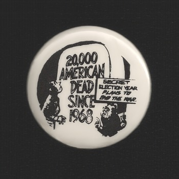 1972 Anti Nixon / Vietnam protest pinback button