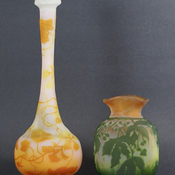 Most Recent Cameo Glass Acquisitions - Galle' and a Mystery Vase - Art Glass