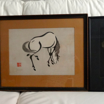 Three Vintage Japanese Paintings - Asian