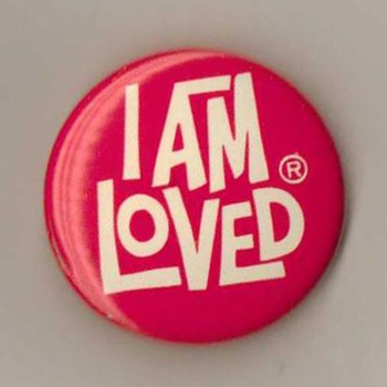 "Helzberg ""I Am Loved"" Pinback - Medals Pins and Badges"