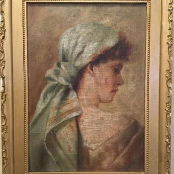 Charles G Calder Gallery Oil Painting Portrait Providence Rhode Island - Fine Art