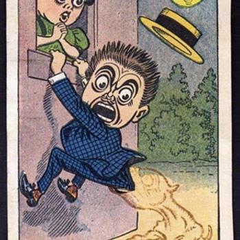"""RARE NEWSPAPER CARTOON STRIP POSTCARDS  """"LULU & LEANDER"""" 1906 HOWARTH"""