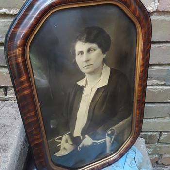 antique fancy-framed portraits of people I don't know (#2) - Fine Art