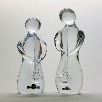 Glassblower sculptures - Hilbert Carlsson, Strombergshyttan 1979.