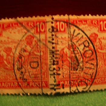 Vintage Magyar (Hungary) 10 Filler Stamps