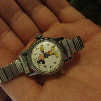 Antique Mickey Mouse watch and stand