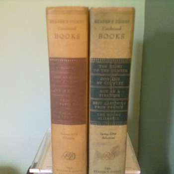 Readers Digest Condensed Book's . Autumn 1954 selection & Spring 1954 Selections. (Both books are First editions 1954 )  - Books