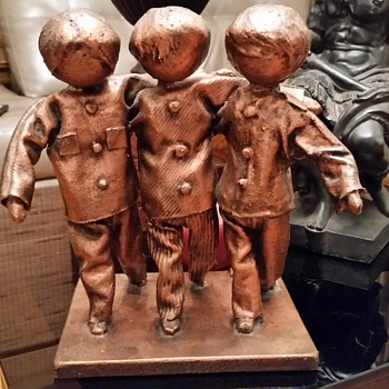 unique sculpture 3 children need help - Fine Art