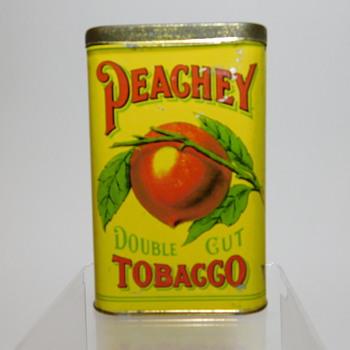 Peachey Double Cut Tobacco Tin - Tobacciana