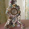 """dresden ornate floral and children mantel clock 14"""" H x 7"""""""