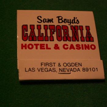 Vintage California Hotel ~ Las Vegas, Nevada - Tobacciana