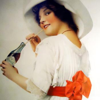 1912 Coca-Cola Paper Sign - Coca-Cola