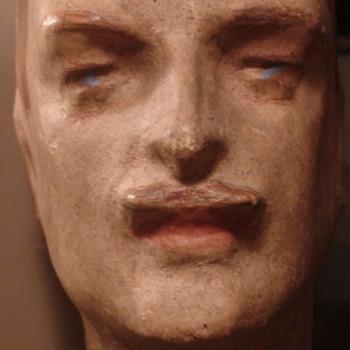 Papier Mache Men's Mannequin Head 1920s/1930s - Advertising