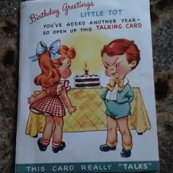 1948 Talking Birthday Card - Cards