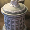 Tri-color Wedgwood cover Jasperware jar