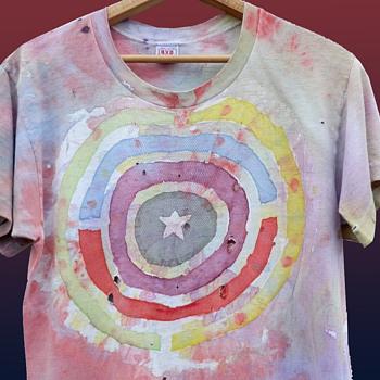 Original 1960s Tie Dye American Target BVD T-Shirt - Mens Clothing