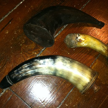 Vintage powder horns