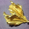 Leaf brooch possibly holly or oak? Possibly Trifari ?
