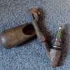 Spark plug whistle with Splitdorf spark plug