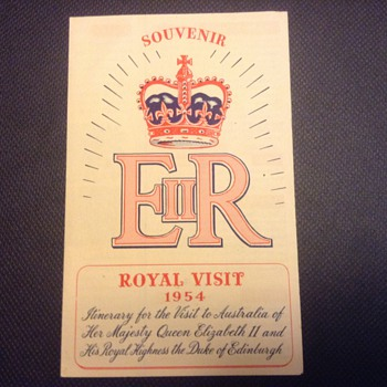 1954 Royal visit to Australia by the Queen of England - Paper