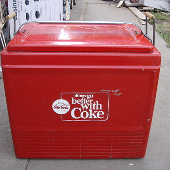 1960's Enjoy Coke Cola Cooler All orginal