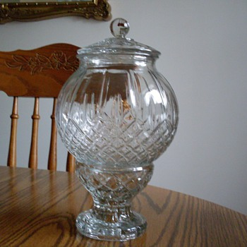 Glass Candy Dish HELP with mark - Glassware