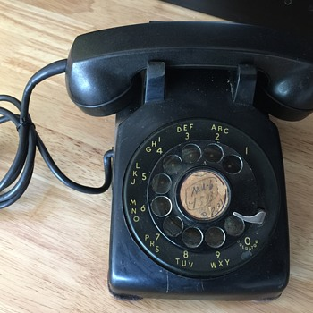vintage 1950 western electric model 500 rotary dial phone