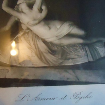 Print from thrift store  Li Amour et Psyche  by Canova Fect