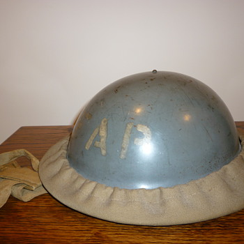 British WWII First Aid Party steel helmet.