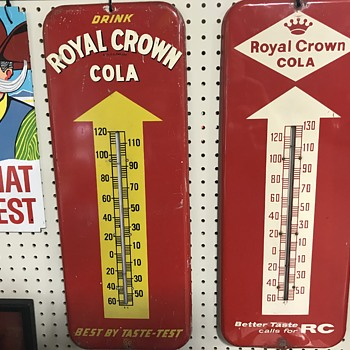 Royal Crown cola thermometers  - Advertising