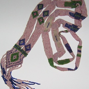 Loomed Native American beadwork