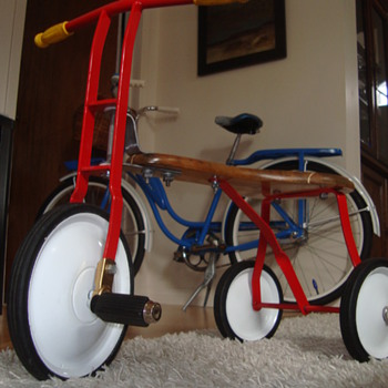 Tri-Ang wooden seat trike - second pic - Toys