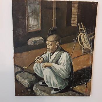 Opium Den Oil Paintings x 2 - Fine Art