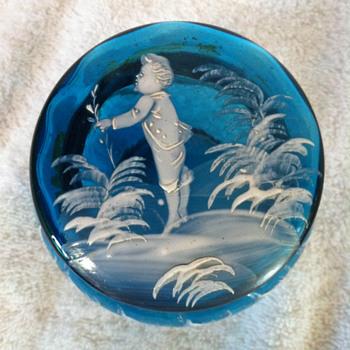 Mary Gregory Powder Jars - Art Glass