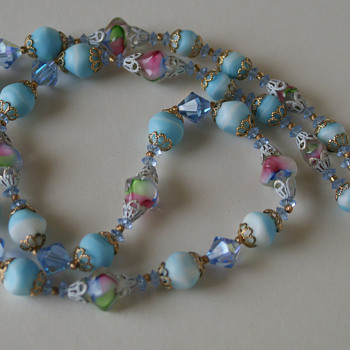 Vendome art glass necklace