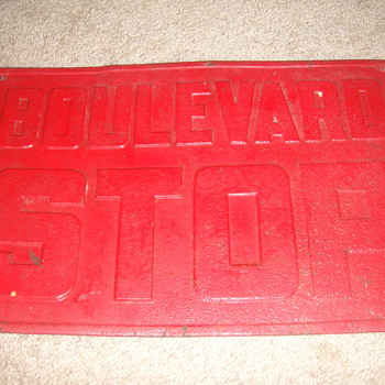 Vintage Tin Stop Sign - Signs