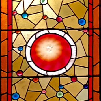 A large stained-glass window which has been in our homes since i was 2. - Art Glass