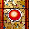 A large stained-glass window which has been in our homes since i was 2.