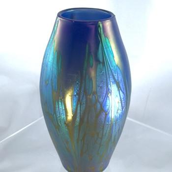 Loetz Phänomen Genre 2/484, Medici Blau Opal Vase, Ca 1902-03  - Art Nouveau