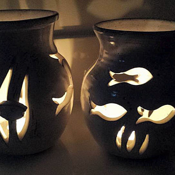 Studio Pottery-Candle Holders - Pottery