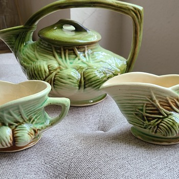 McCoy Teapot, Creamer and Sugar - China and Dinnerware