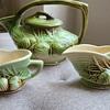 McCoy Teapot, Creamer and Sugar