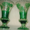 RARE-ish PAIR OF MOSER CAMEO VASES >SWOON<