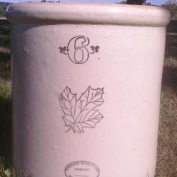 Western Stoneware Crock - Pottery