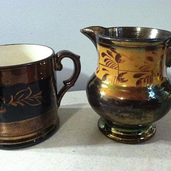 Copper lustre  - Pottery